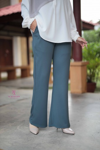 Hayla Pants Bootcut - Soft Teal Blue