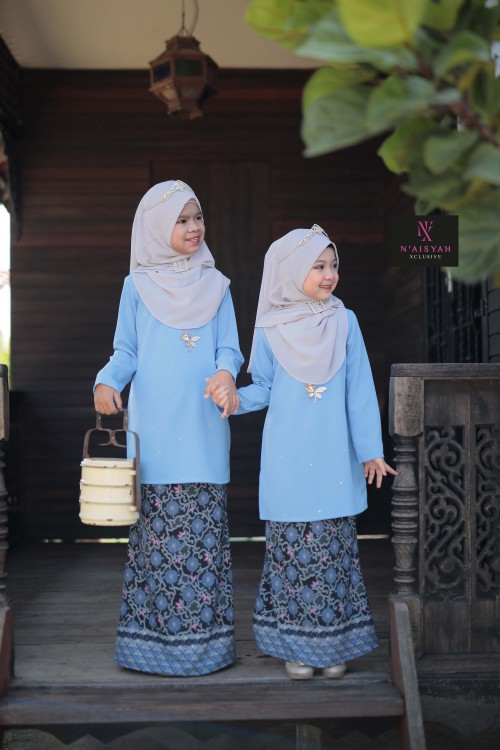 Tun Teja Anak - Light Blue (6-12)