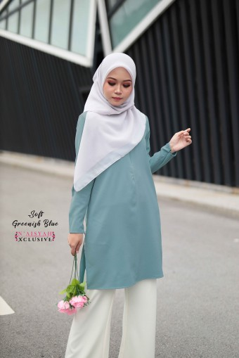 Aneesa - Soft Greenish Blue