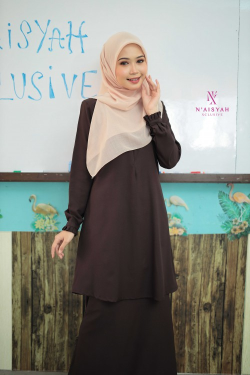 Cik Mariam Kurung - Dark Coffee