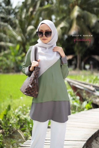 Tulip Blouse 8.0- Dusty Green