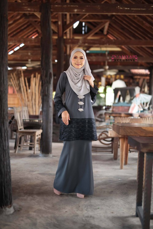 Kausar Lace - Grey