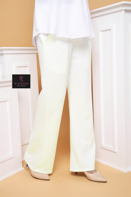 Hayla Pants Bootcut - Off White
