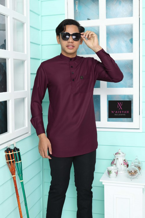 Kurta Yussof - Maroon Brown