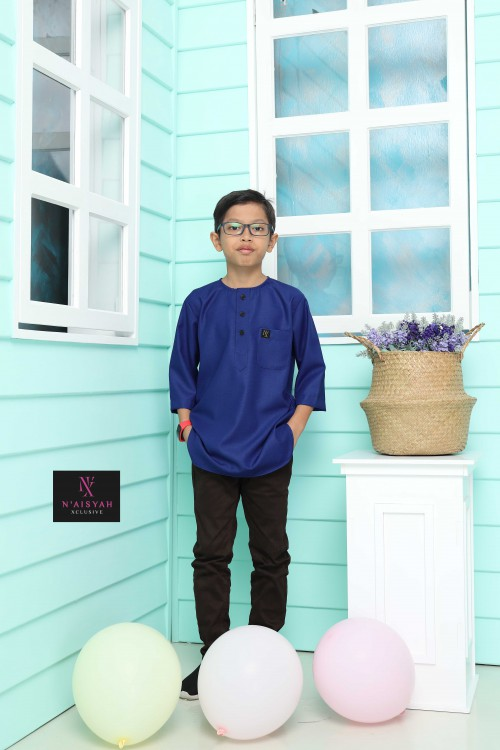 Kurta Yussof Anak - Royal Blue (L-2XL)