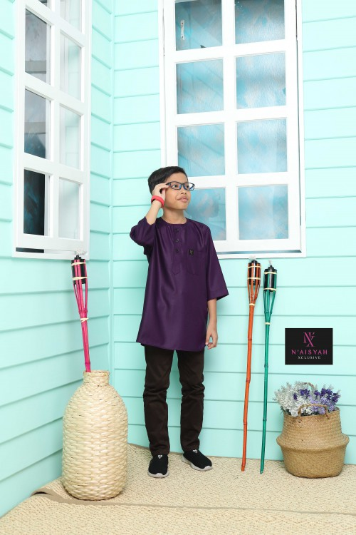 Kurta Yussof Anak - Purple (L-2XL)