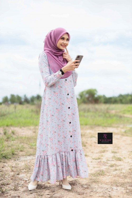 Juwita Printed Dress - JW09