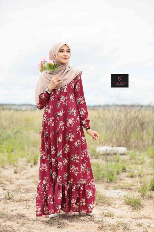 Juwita Printed Dress - JW14
