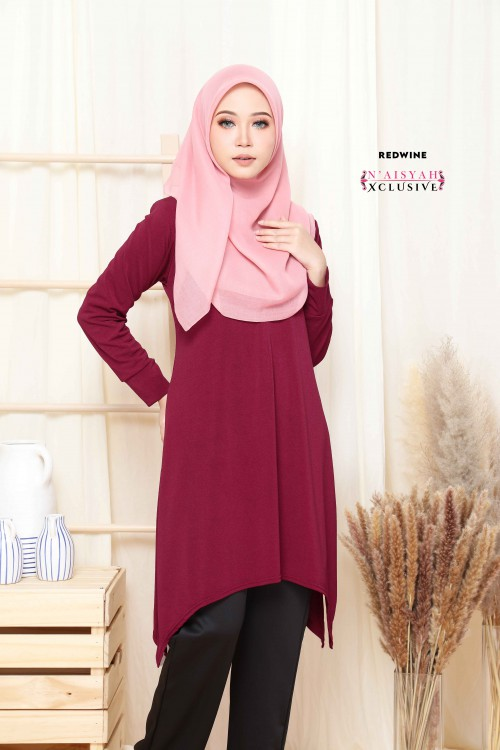 Calyta Blouse - Red Wine