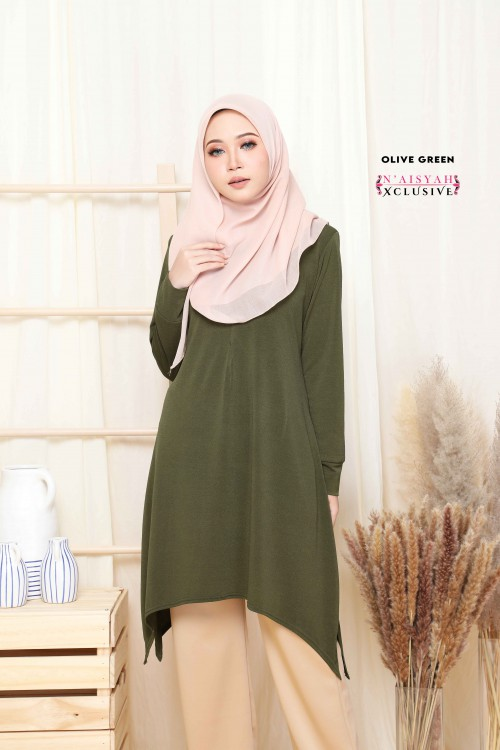 Calyta Blouse - Olive Green